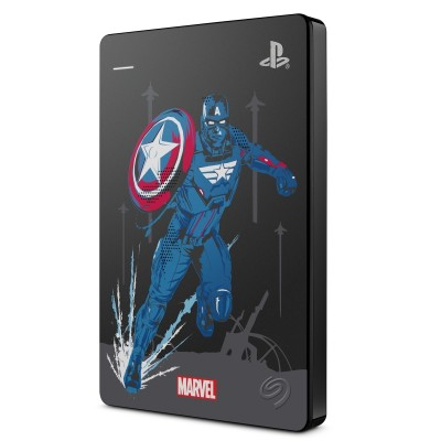 Seagate Game Drive HDD 2TB USB 3.0 Avengers Edition Capitán América para PS4 - STGD2000206