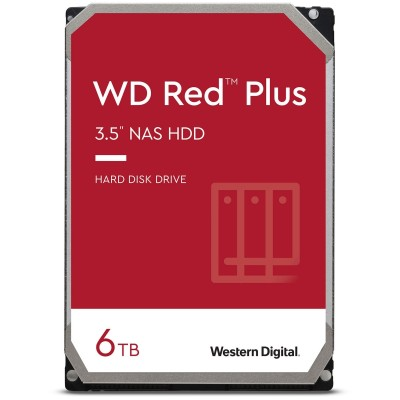 "WD Red Plus 6TB NAS - 3.5"" SATA3 - WD60EFZX"